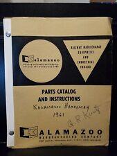 1961 Kalamazoo Manufacturing Company Railway Maintenance Equipment And.