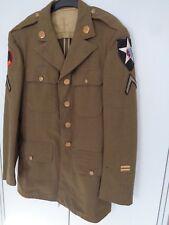 US WWII uniforme chaqueta de 1942 top con insignia original 2nd Infantry Division