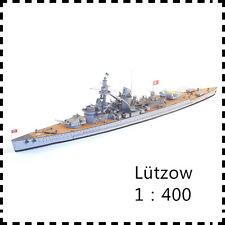 1:400 Germany Lützow Battlecruiser & F 866 Depot Ship Handcraft Paper Model Kit
