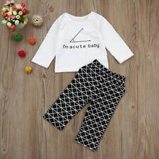 2 Piezas Bebé Recién Nacido Niño Sudadera Con Capucha Suéter Camisa + pantalones