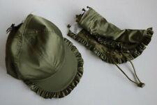 Puma x FENTY olive satin baseball cap HAT & lace face covering sun neck guard