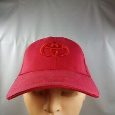 Toyota Baseball Hat Cap Red - Fitted 22 inches - 98% cotton 2% Spandea