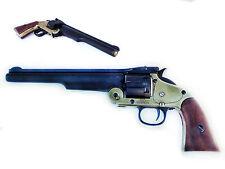 Replica M 1869 S&W .45 Schofield Revolver Prop Gun brass black Pistol non-firing
