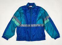 Leopard felpa tuta vintage usato L uomo unisex giacca retro jacket sport T6081