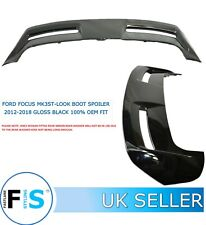 FORD FOCUS ST STYLE 2012-2018 MK3 BOOT ROOF SPOILER GLOSS BLACK OEM-FIT