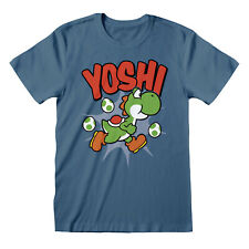 Yoshi Official Nintendo Super Mario World SNES Super Nintendo Blue Men T-shirt