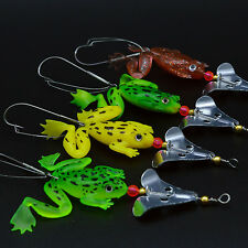 4pcs Soft Lures Frog Fishing Lures Bass CrankBait Baits Fishing Tackle 9cm/6.2g