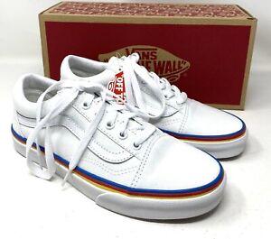 VANS Old Skool Rainbow Foxing White Canvas Women's Sneakers VN0A38G1MWF