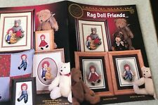 RAG DOLL FRIENDS Cross My Heart Stitch Pattern Book Raggedy Ann & Andy Retired