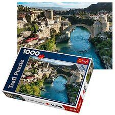 TREFL 1000 pezzi adulto MOSTAR Bosnia città vista grande pavimento Puzzle NUOVO