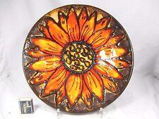 70´s Flower Power design Ruscha Keramik wall plate Wandteller 1 big flower 717/3