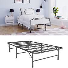 Platform Bed Frame Twin Size Mattress Foundation Metal Base Bedroom Furniture
