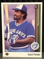 1989 Upper Deck Cecil Fielder Baseball Card Toronto Blue Jays MLB #364 Tigers