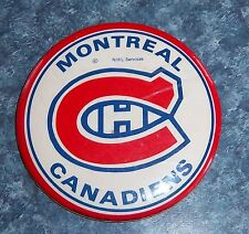 Montreal Canadians  NHL  Pin Back Button   3 in. diameter