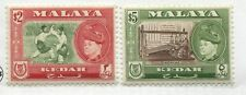 Malaya Kedah 1957 $2 & $5 mint o.g.