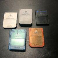 OEM Sony PlayStation Memory Card | PS1 & PS2 | Many Colors to Choose From | Used