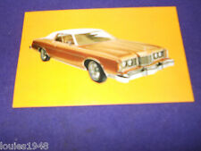 1974 FORD LTD Brougham Dealer promo post card ORIGINAL Reynolds Ford SYRACUSE NY