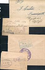 Colombia. Dos cartas circuladas sin sellos y ambas certificadas