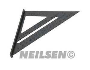 """New 6"""" Aluminium Alloy Square Measuring Tool Roofing Triangle Joiners Joinery"""