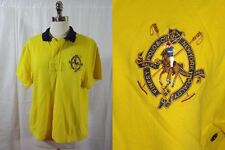 RALPH LAUREN Vtg 80s Bright Yellow SUMMER RUGBY POLO SHIRT Sz L Sporty Casual