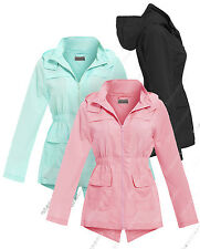 NEW Girls Raincoat Mac Girl Cagoule Shower Proof Jacket Age 7 - 13 Years Pink