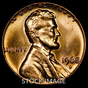1968-D Lincoln cent penny - GEM BU quality!