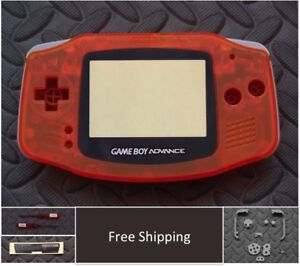 GBA Nintendo Game Boy Advance Replacement Housing Shell Screen Clear Orange USA!