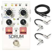 New Digitech SDrum Strummable Drums Pedal w/ Power and Hosa Cables