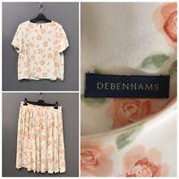 Debenhams Cream Floral Suit UK 18 EUR 46 US 16