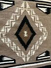 """Vintage Small Two Gray Hills Navajo Rug Soft Densely Woven 19""""x19"""", EUC"""