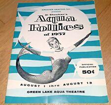 1957 Al Sheehan's Aqua Follies Program Seattle Green Lakes Aqua Theatre Mermaid
