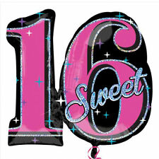 Giant Sweet 16 16th Birthday Foil Number Helium Balloon Girls Party Decoration