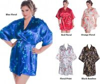 PLUS SIZE LINGERIE FLORAL CHARMEUSE SHORT ROBE ONE SIZE QUEEN (1X-3X)  (4X-6X)