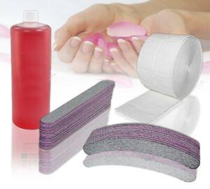 1000ml Nagel Cleaner -  20 Feilen 100/180 Körnung - 500 Zelletten Nail Spar Set