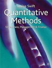 Quantitative Methods for Business, Management and Finance, Swift, Louise, Very G