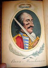 1867 Adventures Of Baron Munchausen 1st Cruikshank Illustrated Edition