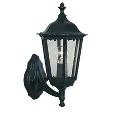 Searchlight 82530BK Alex IP44 Black Outdoor Wall Light With Clear Glass
