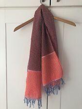 Ladies Scarf Shawl, orange colour check pattern