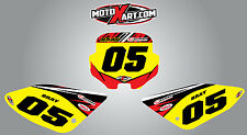 Honda CRF 70 2002 - 2010 Custom number plate stickers DIGGER style decals