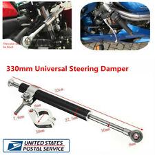 330mm Aluminum Motorcycle Atv Steering Damper 6 -Way Adjust Stabilizer Linear Us