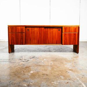 Mid Century Modern Credenza Sideboard Stow & Davis Drawers Walnut Vintage
