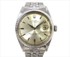 Rolex OYSTER PERPETUAL Boys DateJust Ref 1603 Watch Silver Used