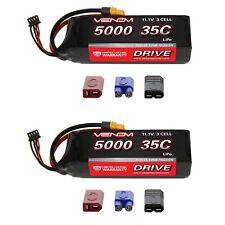 Venom 35C 3S 5000mAh 11.1V LiPo Battery with Universal Plug System x2 Packs