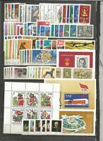 DDR    1976  postfrisch kompletter Jahrgang  mit allen Einzelmarken