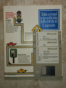 """Microsoft ® MS-DOS ® 6.0 Upgrade & 6.22 Step-Up Operating System - 3.5"""" Disks"""
