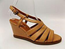 Via Spiga Damara Womens Leather Wedge Sandals Shoes SZ 5.5 M $185 NEW  D2921