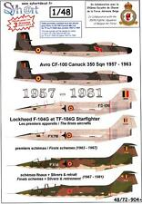 Syhart Decals 1/48 BELGIAN 350 SQUADRON 1957-1981 CF-100 & F-104 Starfighter