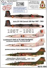 Syhart Decals 1/48 BELGIAN 350 SQUADRON 1957-1981 CF-100 & F-104 Starfighter