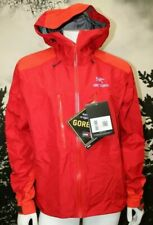 NEW MEN'S ARC'TERYX  ALPHA AR GORE-TEX PRO JACKET, MED., DIABLO RED.