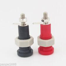 10pcs 3.5mm Banana Female Socket Binding Post 3.5mm Terminal Probes Red + Black
